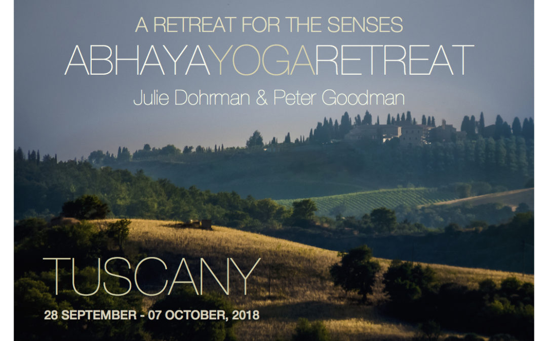 Abhaya Yoga Retreat in Italy with Julie Dohrman and Peter Goodman